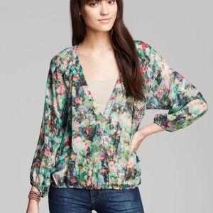 """Sam & Lavi multicolor """"Nolia"""" drape front blouse"""